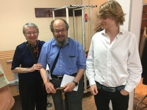 Grégoire Canlorbe (on the right), with Richard Lindzen and his wife