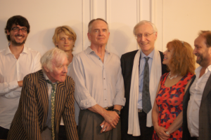 Senior officials and sympathizers of the PNL with Jared Taylor and his fiancée